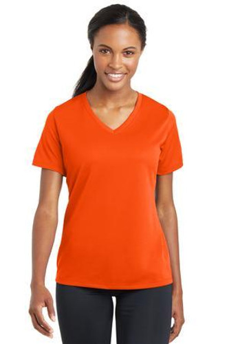 Ladies  RacerMesh V-Neck Tee