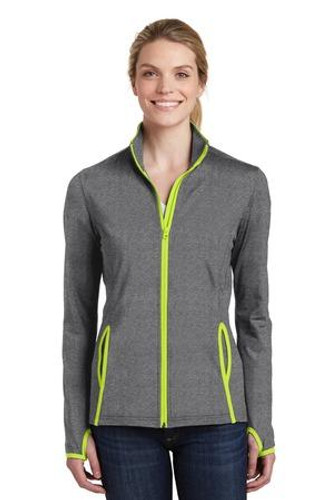 Ladies Sport-Wick Stretch Contrast Full-Zip Jacket