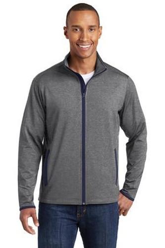 Sport-Wick Stretch Contrast Full-Zip Jacket