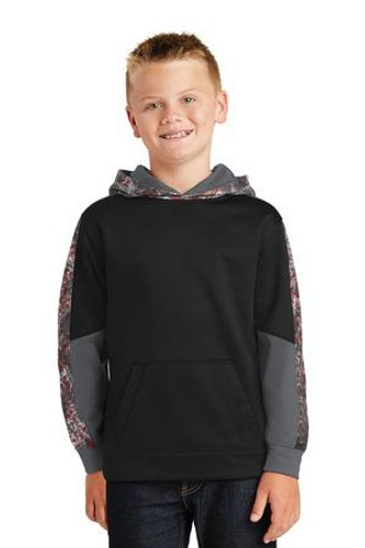 Youth Sport-Wick Mineral Freeze Fleece Colorblock Hooded Pullover