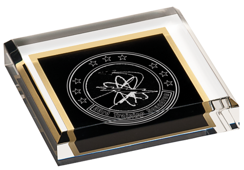 Solid Black Acrylic Paperweight