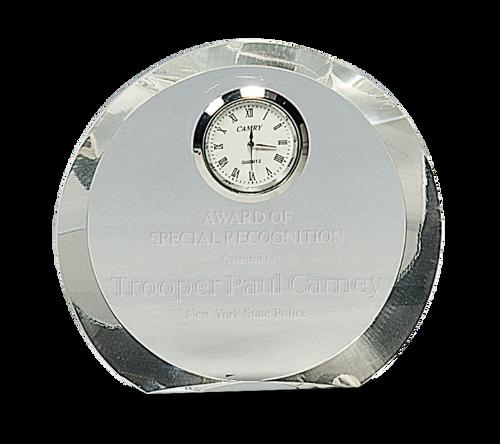 Round Premier Crystal Clock