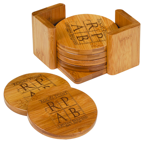 Bamboo Round 6-Coaster Set