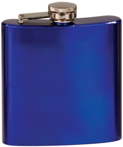 Gloss Blue Stainless Steel Flask