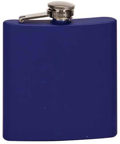 Matte Blue Stainless Steel Flask