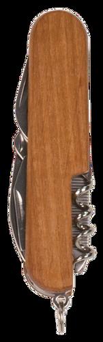 Wooden 8-Function Multi-Tool Pocket Knife