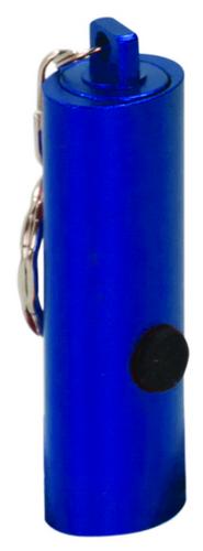 Blue 3-LED Flashlight with Keychain