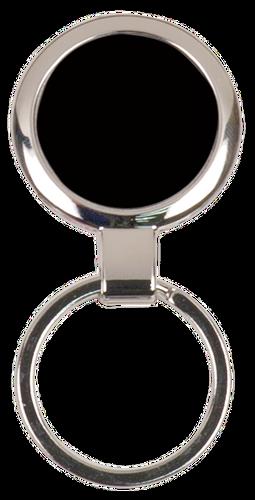 Black Round Metal Keychain