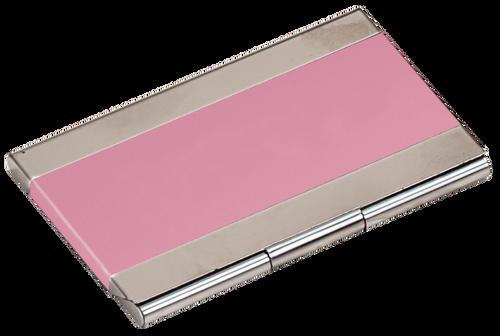 Pink Metal Business Card Holder