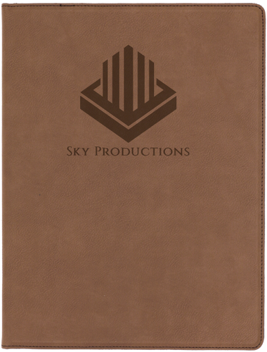 Dark Brown Leatherette Portfolio with Notepad