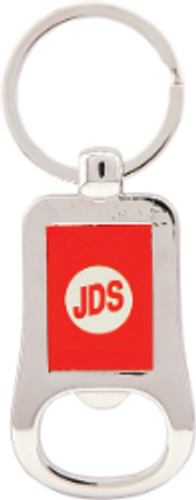 Silver & Red Bottle Opener Keychain