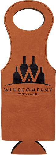 Rawhide Leatherette Wine Bag