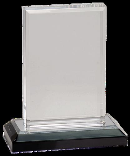 Silver Beveled Impress Acrylic with Base