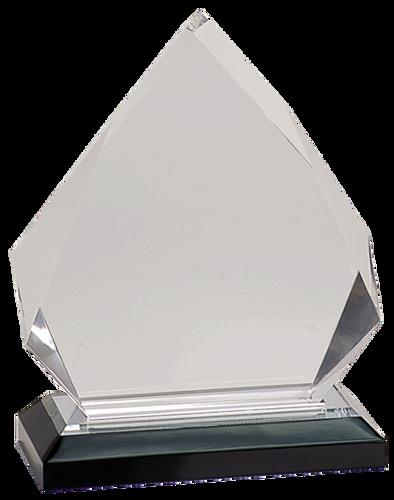 Silver Diamond Impress Acrylic with Base