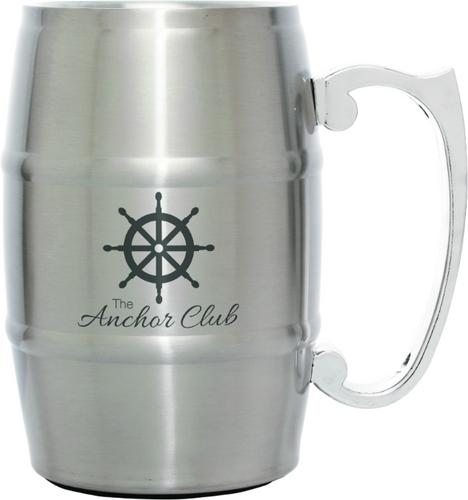 Silver Barrel Mug with Handle