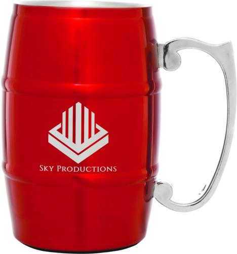 Red Barrel Mug with Handle