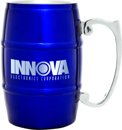 Blue Barrel Mug with Handle
