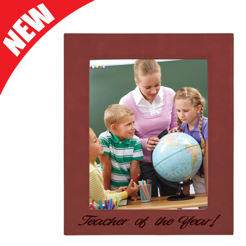 Rose Leatherette Photo Frame