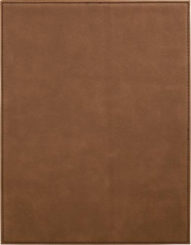 Dark Brown Leatherette Plaque