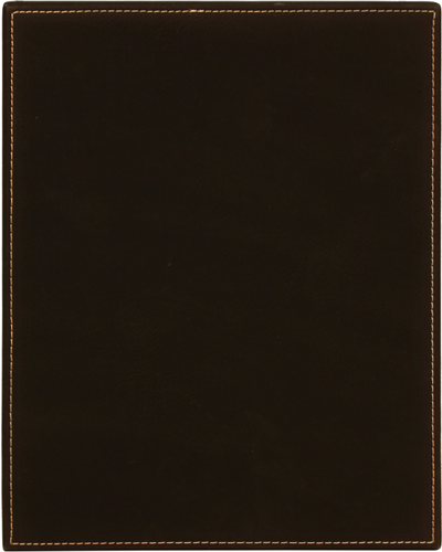 Black Leatherette Plaque