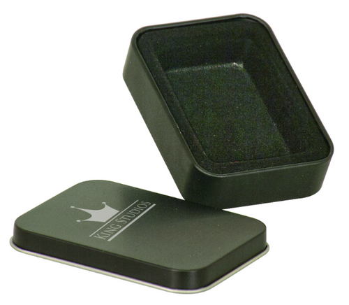 Black Laserable Lighter Tin