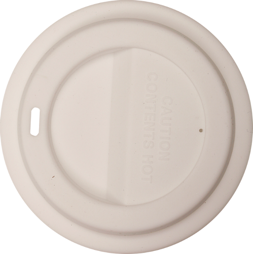 White Flexible Silicone Lid for Latte Mugs