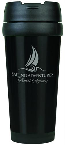 Gloss Black Travel Mug Without Handle