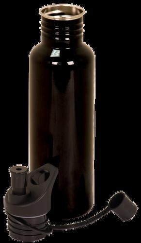 Gloss Black Stainless Steel Water Bottle