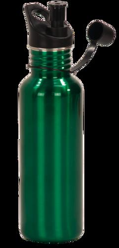 Gloss Green Stainless Steel Water Bottle