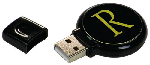 GB Black Plastic USB Flash Drive