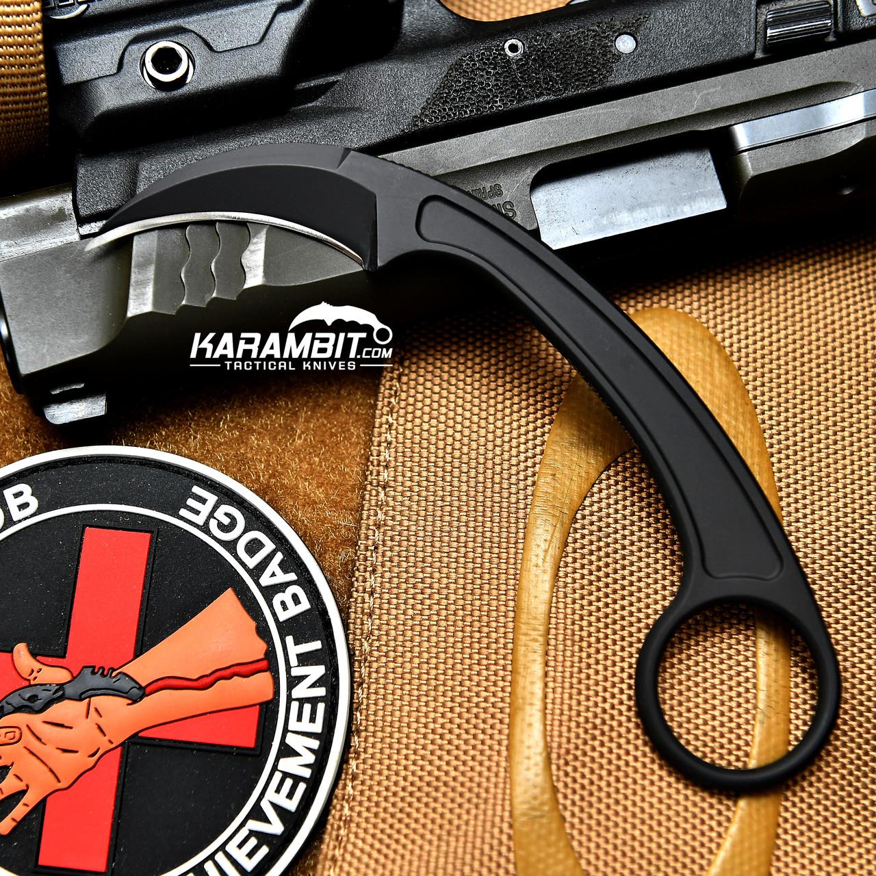 Bastinelli Knives Pika Black Fixed Karambit Karambit Com