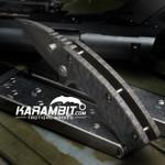 James Coogler's Flamed Camo Harrissi Folding Knife