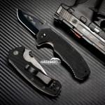 Emerson CQC-14 Black Snubby Folding Knife (EMR-CQC14-Blk-Plain)