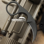 Bastinelli Black Cerakote Diagnostic Neck Knife (BastiDiagnosticNeckBlack)