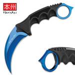 Blue Honshu Karambit w/Shoulder Harness (UC2786B)