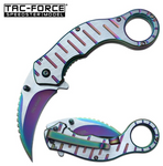 Tac Force Framelock Assisted Opening Rainbow Karambit (TF952RB)