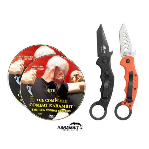 Fox Dart Black Karambit Training Karambit and DVD Combo (FX597 + FX597-TK+DVD)
