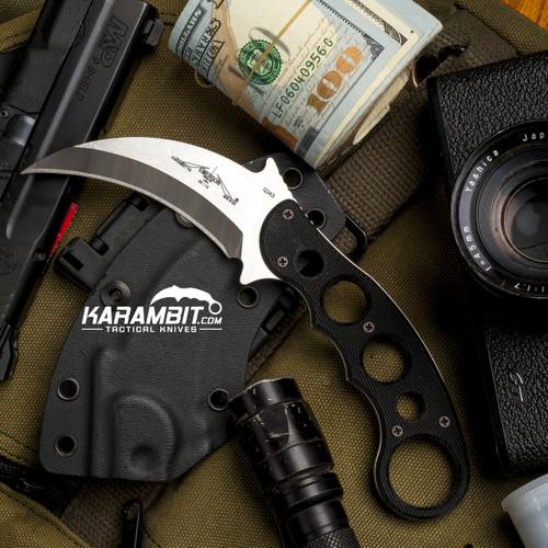 Emerson Stonewash Fixed Blade Karambit