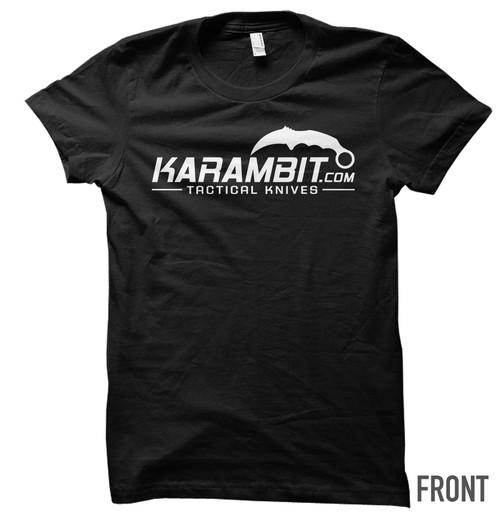 Karambit.com White Logo T-Shirt