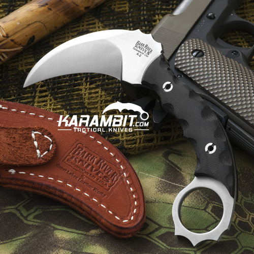 Ghost II Black Canvas Micarta Karambit