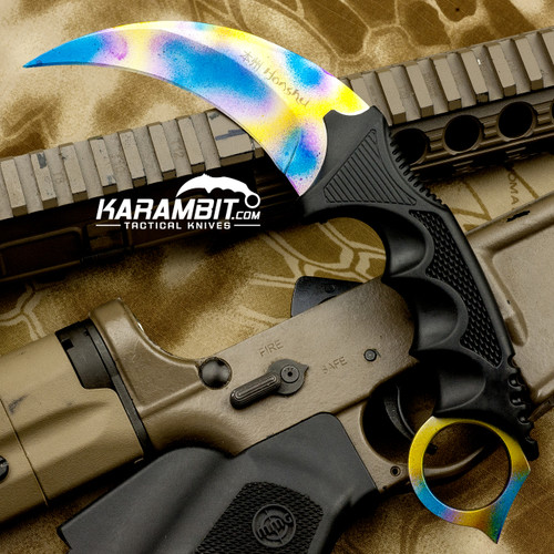 Painted Honshu Case Hardened CS GO Karambit (CSGOCaseHardened)