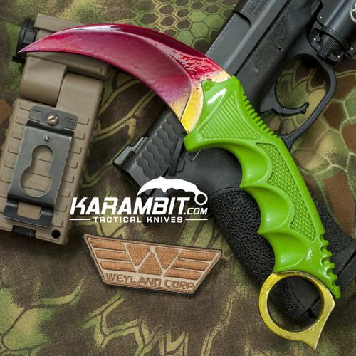 Painted Honshu Toxic Fade CS GO Karambit