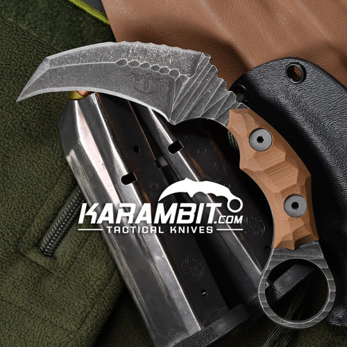 James Coogler's Tan Rock Pattern E.D.G.E Karambit