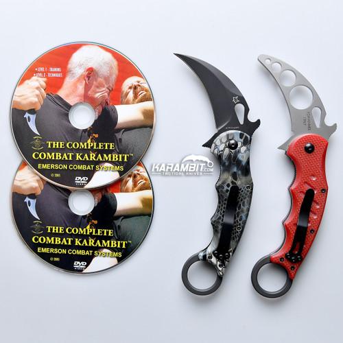 Fox 479 Kryptek Neptune Karambit & DVD Training Package - 3 in 1 (FX479KN+Trainer+DVDPkg)