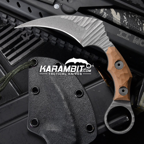 James Coogler's Tan Stonewashed Juggernaut Karambit