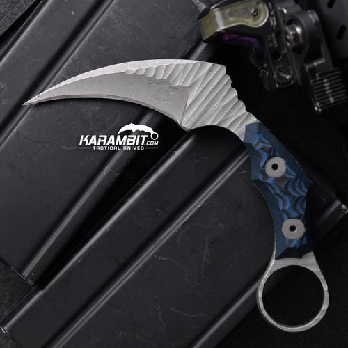 James Coogler's Blue Rockface Juggernaut Karambit