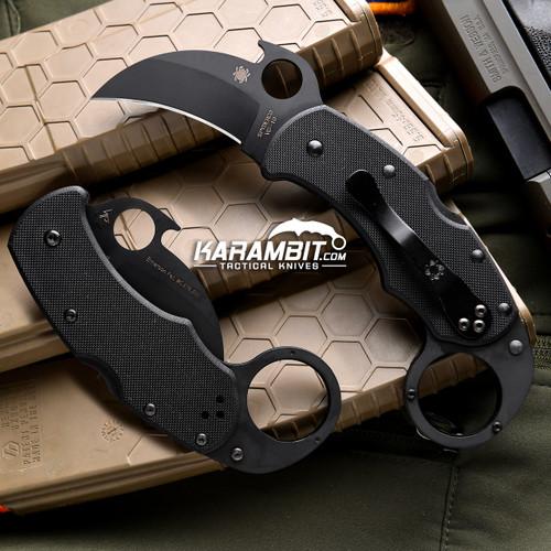 Spyderco Black Karahawk Karambit - Emerson Wave