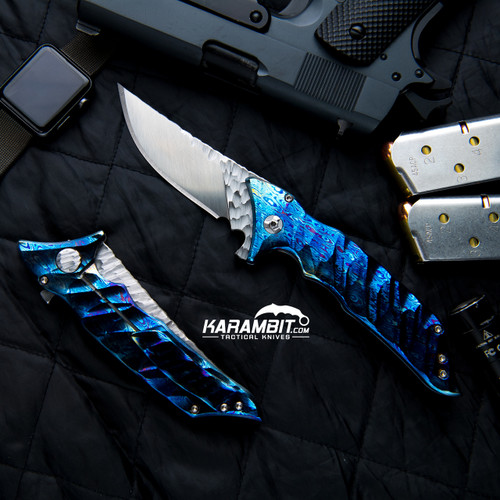 Phantom Steelworks Delirium Timascus Folder