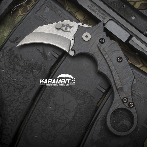 James Coogler's Flamed Nemesis Folding Karambit