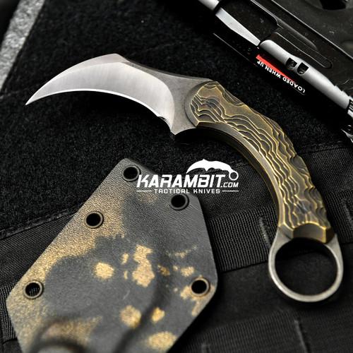 R.S. Knifeworks Milled Bronze Karambit Peacekeeper (RSKBronzePeacekeeper)
